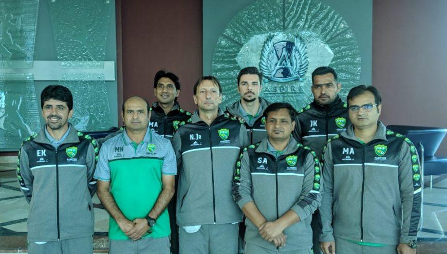 Seleção do Paquistão encerra período de treinos em Doha, no Qatar. Equipe visitou a Aspire Academy e fez amistosos.