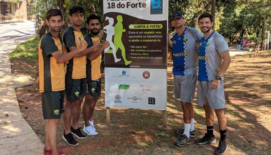 Jogadores da Seleção Principal do Paquistão realizam preparação no Brasil