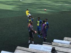 No Clube Juventus uma troca de experiências com o Treinador Marcel  e Jogadores Paquistaneses